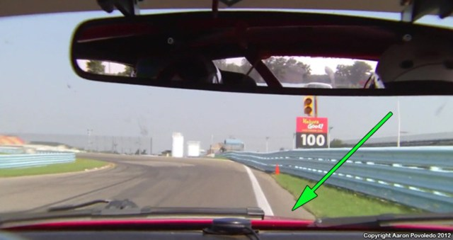 """Notice the extra """"bubble"""" of track near the turn in point in Turn 10."""