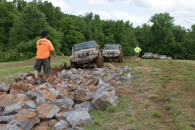 American Expedition Vehicles demonstrated its Jeeps and Rams on an off-road course set up at VIR.