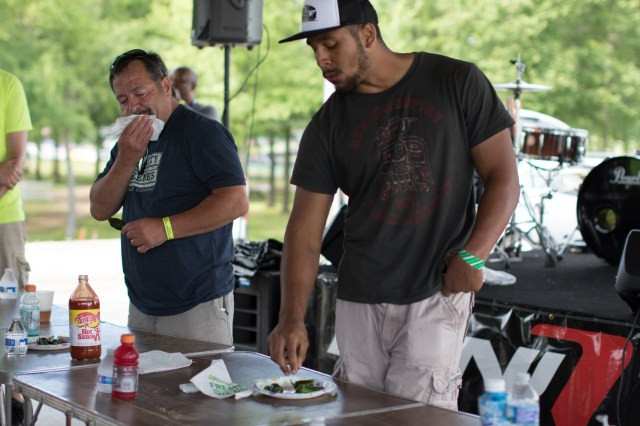 HyperFest brings on the heat with the chili pepper-eating contest.