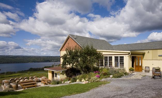 Atwater Estate Vineyards view of Seneca Lake