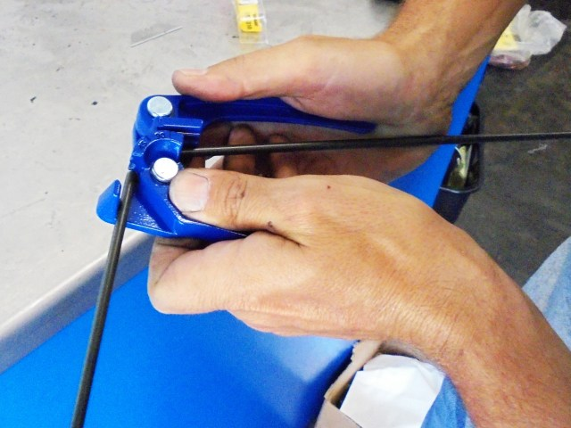 This simple and inexpensive tubing bender can be used to correctly bend your lines and ensure they don't crimp, which could cause hydraulic flow issues. It takes a few practice tries to make sure you are bending the tube exactly where you want it, but practice makes perfect.