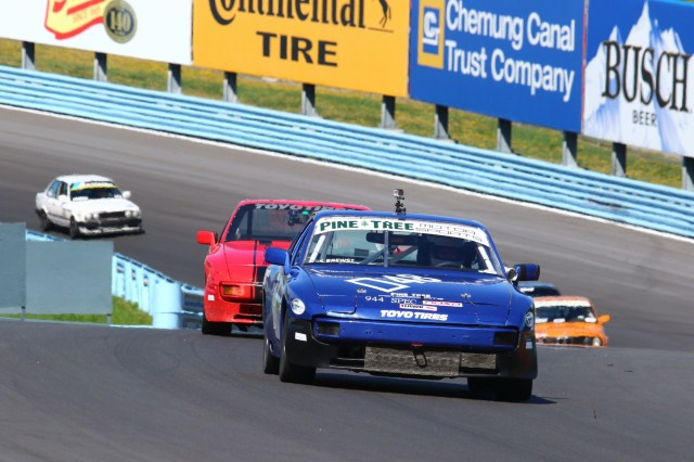 Steve Brewster was in the right place at the right time when the double-yellows came out. He took second in 944 Spec.