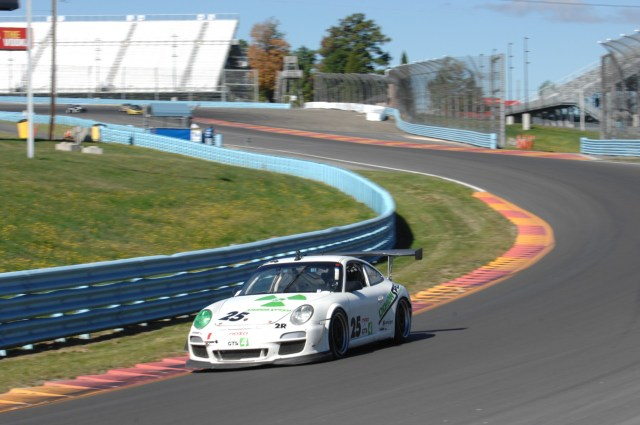 Ed Baus overcame a points deficit due to a cut tire and dyno infraction, but clawed his way forward to finish third in GTS4.