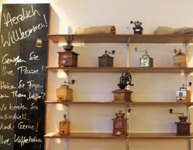 Kaffemühlen in Kaffeerösterei die Bohne Münster