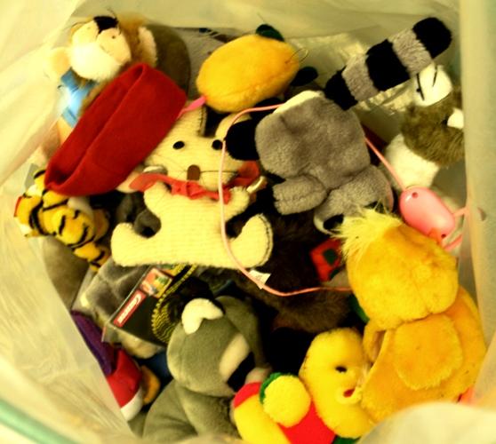 Stofftiere und Teddys aus dem Altkleider-Container