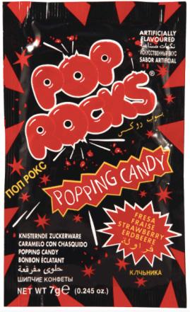 Pop Rocks Erdbeer Strawberry Knallkaugummi