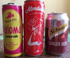 Paloma Limonade Almdudler Schweppes Ginger