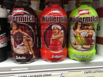 Müllermilch Sexistische Verpackung Drink Getränke Plastikflasche