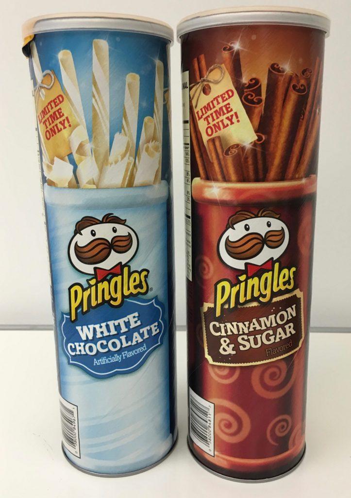 Pringles White Chocolate und Cinnamon + Sugar