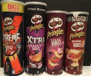 Pringles 4 verschiedene Sorten BBQ