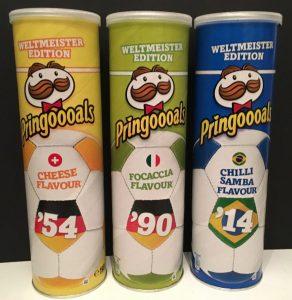 Pringles Pringoooals Serei mit Weltmeisterschafts-Jahreszahlen