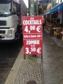 """Wie gut kann ein """"Zombie to Go"""" für 3,50 Euro aus einem indischen Restaurant sein?"""