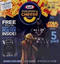 Die berühmten Macaroni & Cheese von Kraft auch im Star Wars Design.