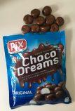 Die dänischen Choco Dreams von Pix sollen eigentlich mit Schokolade ummantelte Schaumbälle sein. Zumindest die in meiner Packung bestanden aus unheimlich harten Zuckerschaum, der an den Zähnen kleben bleibt. Muss ich nicht haben.