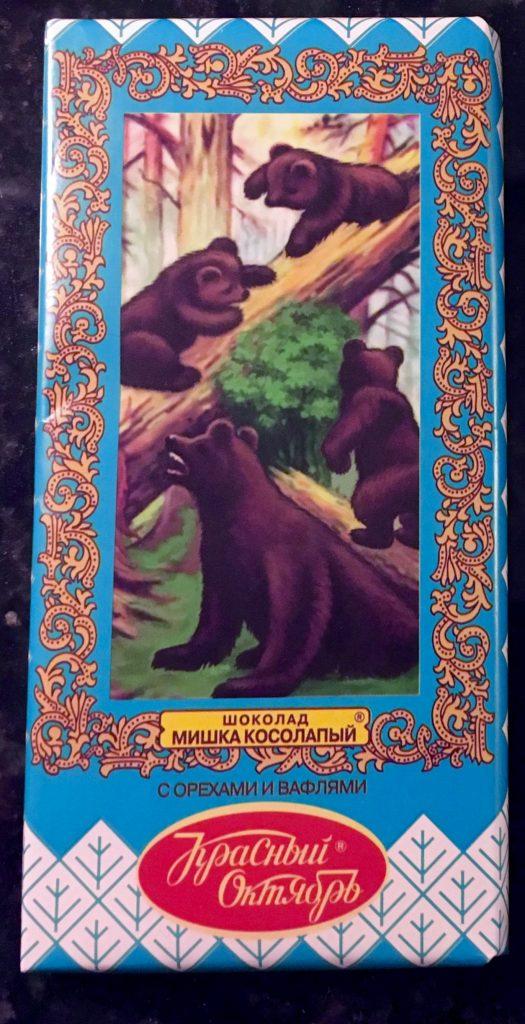 Schokolade aus Russland Bärenmotiv