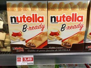 """Von Ferreros Nutella gibt es diverse Derivate, dieses hier mit dem reichlich bescheuerten Namen (""""B-ready"""") habe ich aber vorher noch nicht gesehen."""