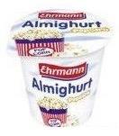 Almighurt von Ehrmann mit der Geschmacksrichtung Popcorn.