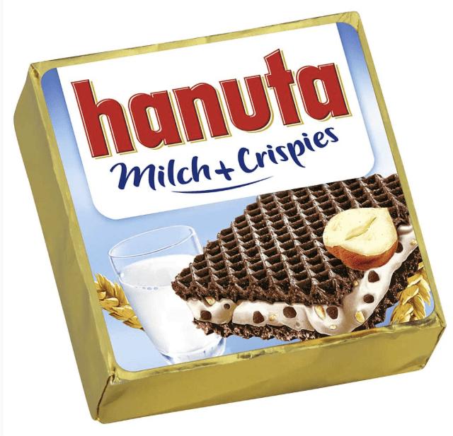 Ferrero Hanuta Sonderedition mit Milch +Crispies