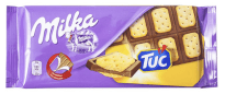 Mondelez Milka-Tafelschokolade mit TUC-Einlage