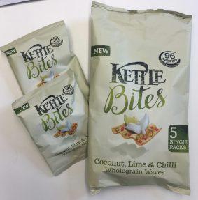 Kettle Bites Conconut Chilli Wholegrain Waves