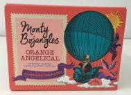 Schoko: Die Engländer: Wieder eine sehr gelungene Verpackung von Monty Bojangles mit himmlischen Orangen-Trüffel.