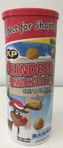 Chips: Unfassbar saure Reindeer Snack Bites (keine Erdnüsse, wie ich ersta dachte), sondern nur kleine Weizengebäckkügelchen.