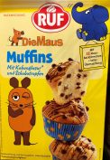 Und noch mal RUF mit den Maus-Muffins, wo allerdings lediglich die Papierverpackung der einzelnen Muffins ein Mausmotiv aufweist.