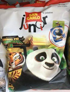 San Carlo Junior-Chips mit Werbung für den Kung-fu-Panda-Film