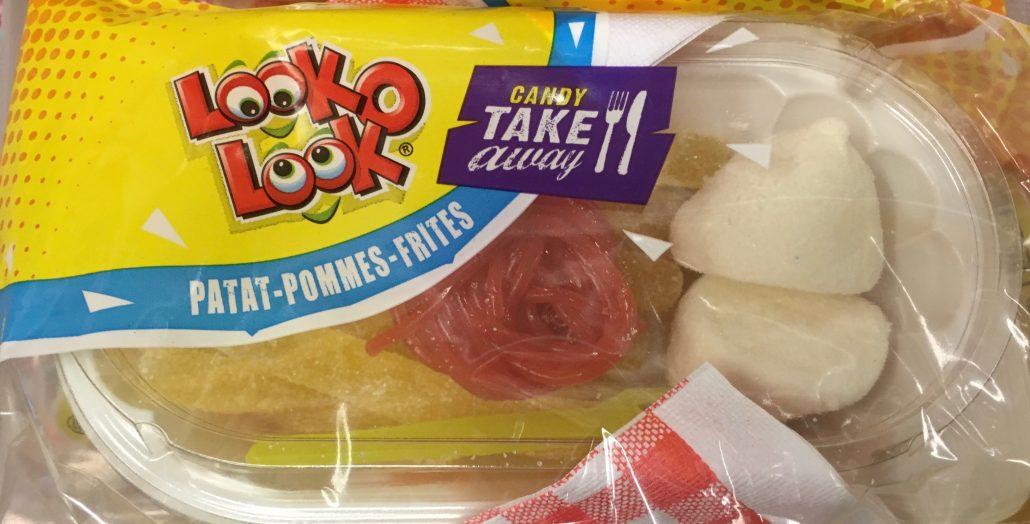 Gummi: Noch eine gelungene Lebensmittel-Imitation von Look-O-Look aus Weingummi: Dieses Mal Pommes mit Ketchup und Mayo.
