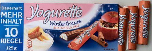 Gefunden im Juli im Firmenkühlschrank: Jogurette Wintertraum schmeckte vor allem süß...