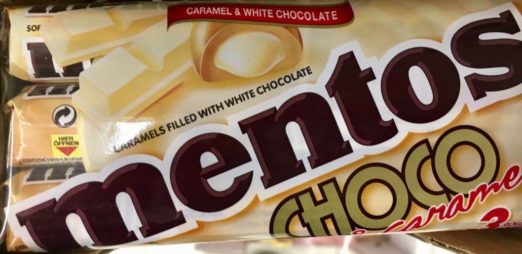 Mentos Choco White mit Karamell