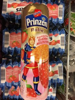 Grisson-DeBeukelaer Prinzenrolle mit Erdbeercreme-Füllung.