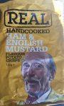 Chipstüte real handcooked 150 Gramm Männergesicht