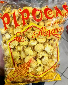 Popcorn mit Honig-Geschmack, gesehen in Portugal.