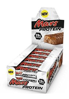 Von Mars gibt es auch einen Protein-Riegel. Okay, ist ziemlich nah dran am Originalprodukt.