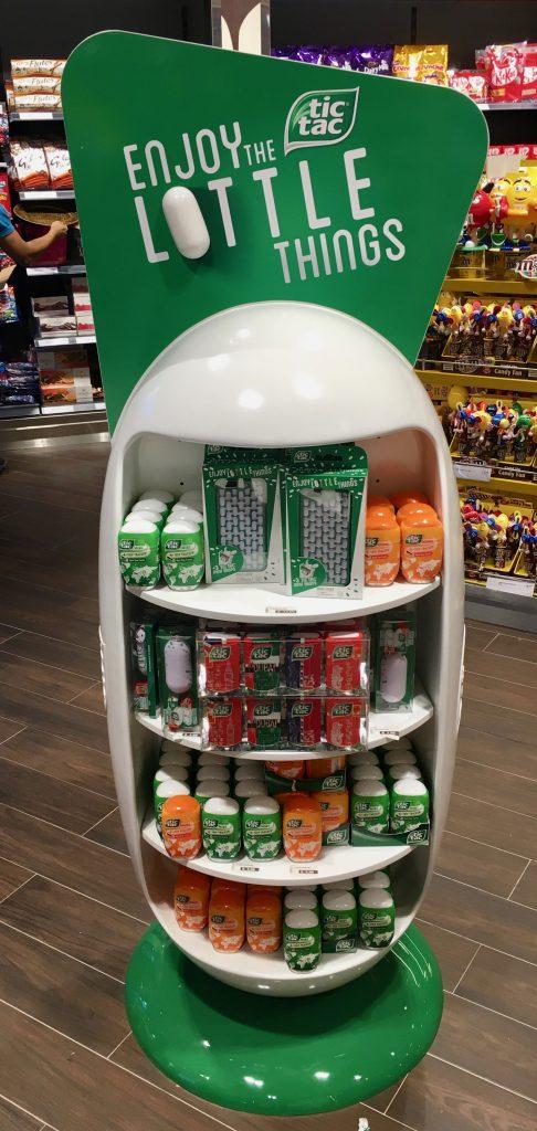 Ferrero TicTac Aufsteller Display Flughafen Duty Free