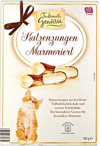 Traditionelle Genüsse Marmorierte Katzenzungen