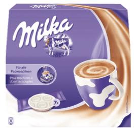 Milka Trinkschokolade gibt es sogar in Pads-Form.