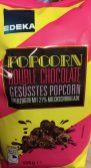 """Jetzt gibt es Spezialpopcorn sogar schon als EDEKA-Eigenmarke mit """"Double Choclate""""!"""