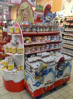 Ferrero Kinder Überraschungsei Zweitplatzierung Display