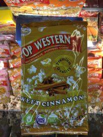 """Pop Western Mikrowellen-Popcorn mit dem Geschmack """"Süßer Zimt""""."""