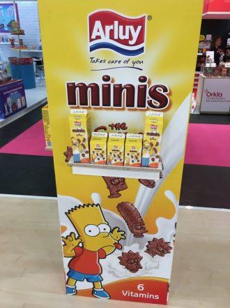 Leider noch ohne Vertriebspartner für Deutschland ist dieser dänische Hersteller von Minikeksen in witzigen Milchtüten, die Fox' Simpsons-Lizenzen verwenden.