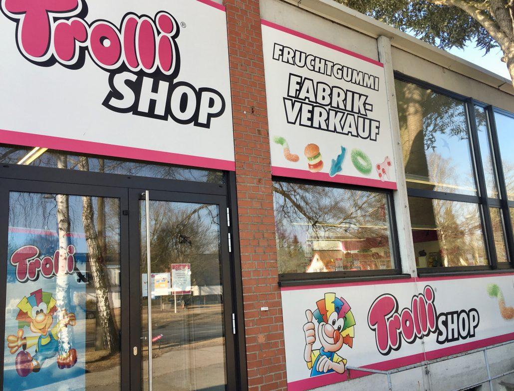 Trolli-Fabrikverkauf Nürnberg von außen
