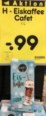 Netto Cafet Eiskaffee 1l Tetrapack