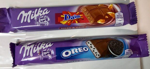 TwoBrands: Daim und Oreo in Milka-Schokoriegeln.