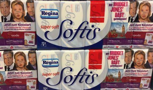 Softies Taschentücher mit Filmwerbung Bridget Jones