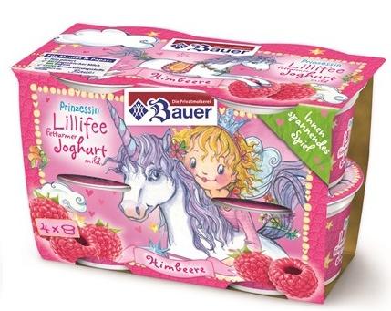 Molkerei Bauer Joghurt Prinzessin Lillifee Einhorn Joghurt