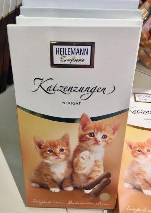 Katzenzungen von Heilemann mit Nougat-Füllung.