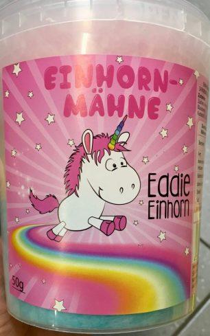 Es gibt Einhorn-Mähne (zweifarbige Zuckerwatte)...