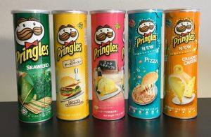 Pringles Dosen Standardgrößen in Asien